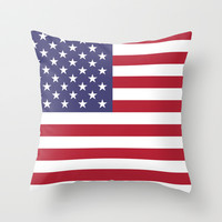 "The national flag of the USA - Authentic Scale ""G-spec"" 10:19 and authentic colors. Throw Pillow by LonestarDesigns2020 - Flags Designs +"