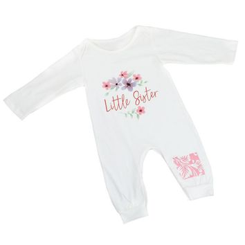 """6-24M """"Little Sister"""" Long-sleeve/Pants Outfit"""
