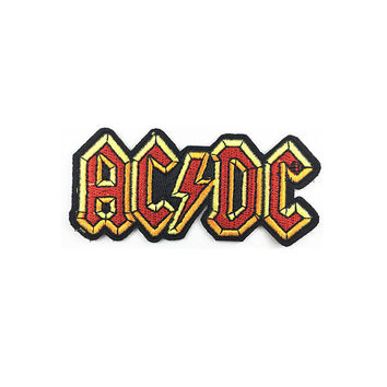 band patch letter patch ACDC patch band and music embroidered patch iron on patch embroidered badge sew on patch