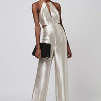 Metallic Cut-Out Jumpsuit - Topshop