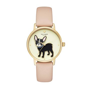 kate spade | Stainless Steel and Leather Casual Watch