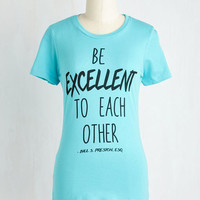 Sayings Mid-length Short Sleeves Most Excellent Advice Top