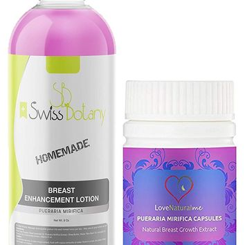 Breast Enlargement Cream & Capsules 1 Month Combo Pack