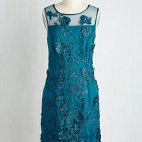Soiree of Life Dress in Teal | Mod Retro Vintage Dresses | ModCloth.com