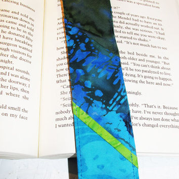 Quilted Bookmark Slice of Lime