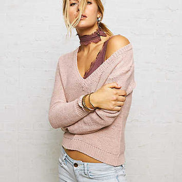 Don't Ask Why V-Neck Sweater, Blush