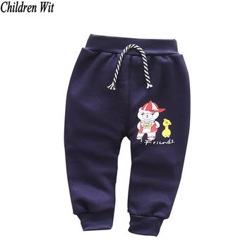 2016 autumn winter new cotton and wool Warm Cute cartoon style baby harem pants 0-3 year baby pants baby boy girs pants