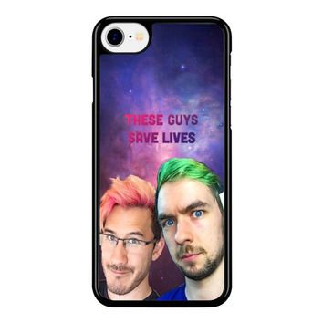 Jacksepticeye And Pewdiepie Markiplier 001  iPhone 8 Case