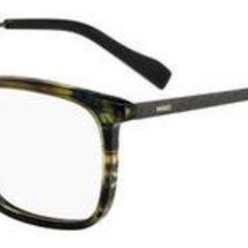 HUGO by Hugo Boss - Hg 0307 Striped Green Eyeglasses / Demo Lenses