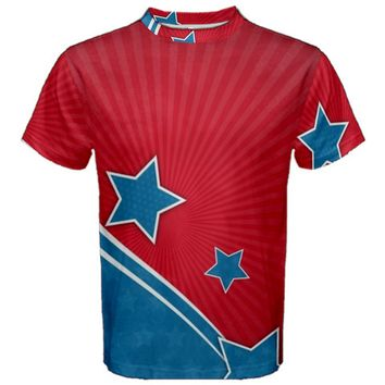 Abstract American Flag Men's Cotton Tee