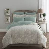 Modern Living Sienna Paisley Duvet Cover in Abyss