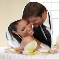 Wedding Cake Topper Holds Photo - Personalized Cake Toppers