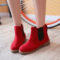 Artificial Suede Ankle Boots Autumn Shoes Woman