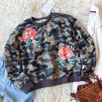 Camo Rose Sweatshirt
