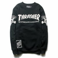Winter Hip-hop Long Sleeve Round-neck Hoodies [9321298567]