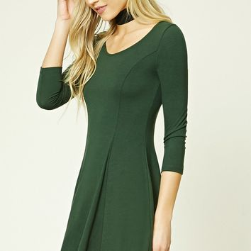 Stretch-Knit Skater Dress