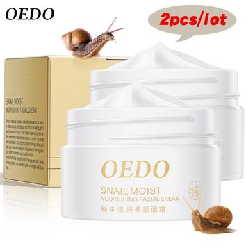 2PCS Snail Essence Skin Care Face Cream Serum Whitening Anti-wrinkle Anti Aging Hydrating Moisturizing Facial Creams Cosmetics