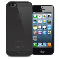 KAYSCASE Slim Soft Gel Cover Case for Apple new iPhone 5 / iPhone 5S, Retail Packaging with Screen Protector (Smoked)