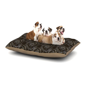 "Mydeas ""Nautical Breeze - Spiral Swirls"" Brown Pattern Dog Bed"