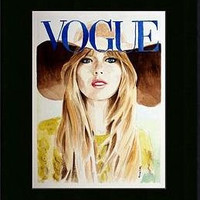 Vogue. Taylor Swift. Print and Black Mat. Frame Ready. 8x10