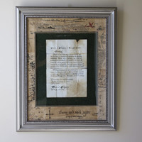 The Hobbit -Thorin's Note to Bilbo Baggins, Framed and Matted