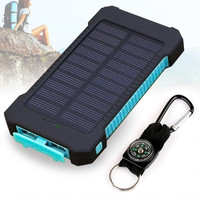 Dual USB Ultra Portable Solar Charger Battery For Cell Phones