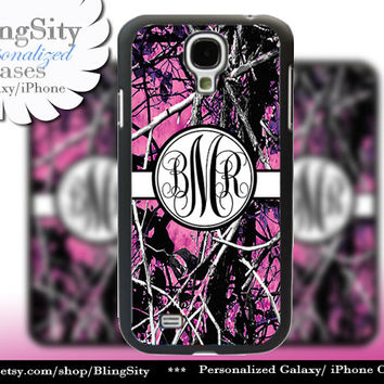 Camo Black Monogram Galaxy S4 case S5 RealTree Muddy Camo Personalized Samsung Galaxy S3 Case Note 2 3 Cover Country Girl