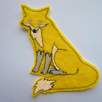 Iron On Patch Yellow Fox Applique
