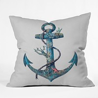 Terry Fan Lost At Sea Throw Pillow