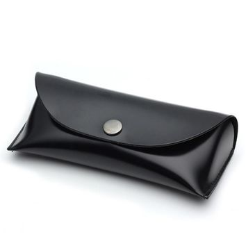 Fashion PU Leather Black Big Sunglasses Case Unisex Eyewear Box Glasses Box Spectacle Case For The Points Casing Glasses Case