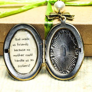 Personalized Message Locket-Bridesmaid Gift