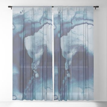 Seeking Peace Sheer Curtain by duckyb