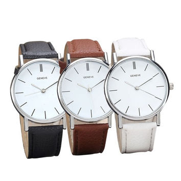 Latest  Womens Retro Design Leather Band Analog Alloy Quartz Wrist Watch (With Thanksgiving&Christmas Gift Box)= 5979149953