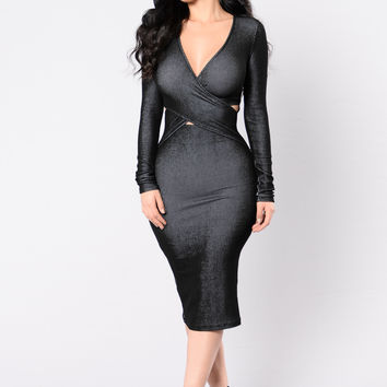 Just One Dance Dress - Black