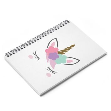 Unicorn Spiral Notebook  Ruled Line, Personalized Journal, Custom Journal, Writing Journal, Diary, Notebook, Gift for Book Lovers