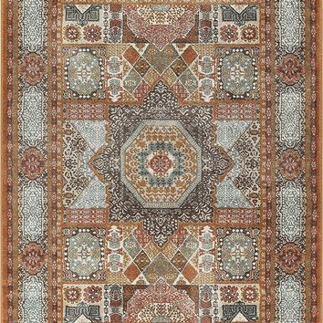 2931 Beige Medallion Distressed Traditional Area Rugs