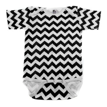 Black & White Chevron One Piece