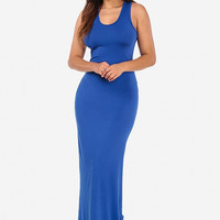 Long Maxi Dress Royal Blue