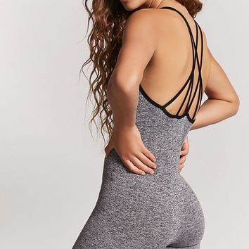 Active Heathered Knit Jumpsuit