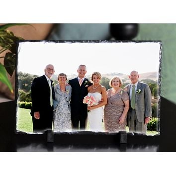 Customizable Slate Photograph - Handmade and Personalized Photo Plaque