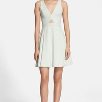 Women's Alice + Olivia 'Nina' Cutout Fit & Flare Dress
