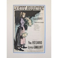 Pre-owned 1900s French Song Sheet, Eugenie Buffet - Steinlen