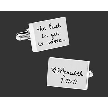 The Best Is Yet To Come Personalized Cuff Links | Groom Gift