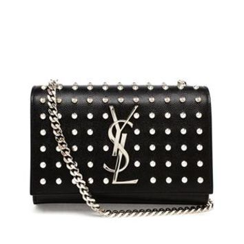 SAINT LAURENT | Studded Mini Monogram Bag | brownsfashion.com | The Finest Edit of Luxury Fashion | Clothes, Shoes, Bags and Accessories for Men & Women