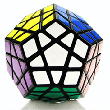 Dodecahedron magic cube 12 surfaces speed White Black twist Poly cf3adbc99750