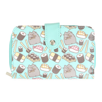 Pusheen Mint Sushi Snap Flap Wallet