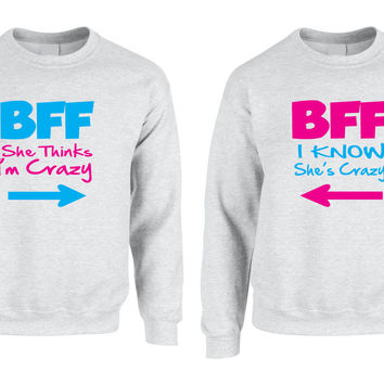 BFF Crazy Best Girlfriends couple women sweater