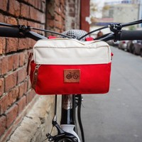 Handlebar Bag 'Eddy' Red-White by VELOTTON