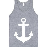Venus Anchor White-Unisex Athletic Grey Tank