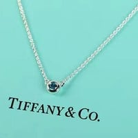 Tiffany & Co. Sterling Silver Sapphire Necklace